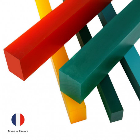 Barres barre rectangle polyurethane polymere caoutchouc pu solution solutions elastomere elastomeres made in France