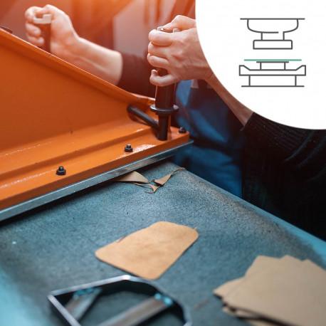 Découpe presse Outillage Solutions Elastomeres sur mesure