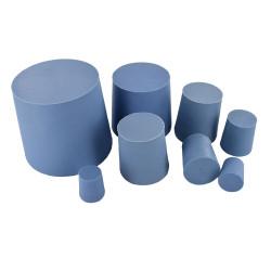 Elastomer cone-shaped caps